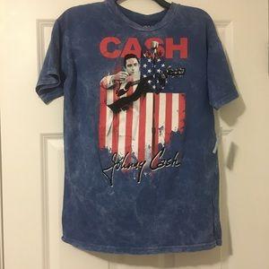 New Large Johnny Cash Blue Juniors Shirt